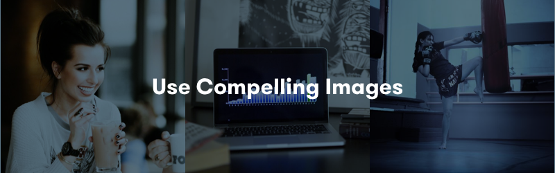Use compelling images on your webinar landing page