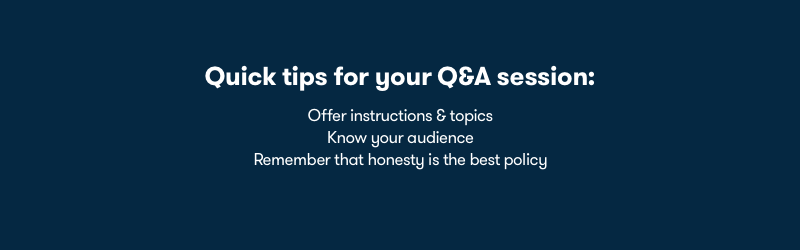 Optimize your webinar q&a session